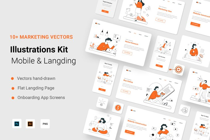 Marketting Illustration Kit