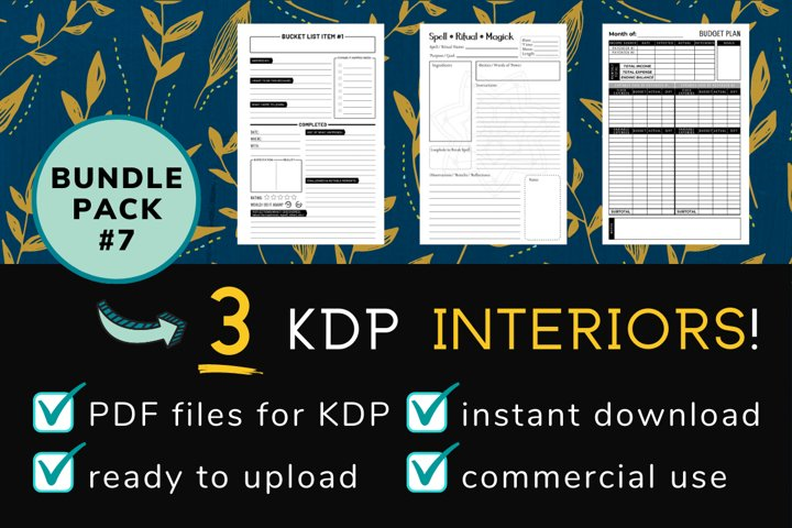 KDP Interior Pack #7 - 3 Templates!