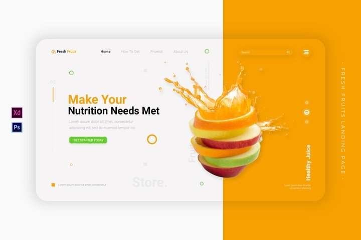 Fresh Fruits | Landing Page