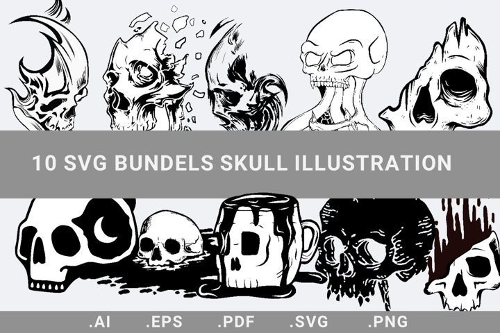 Skull illustration SVG Bundels