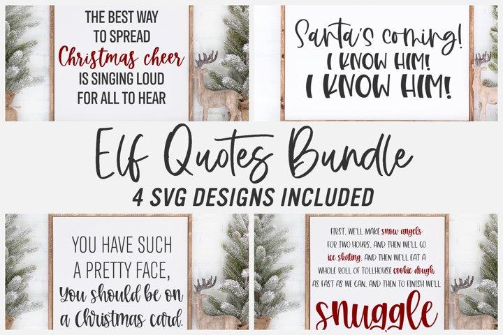 Elf Quotes Bundle |Christmas Cut File