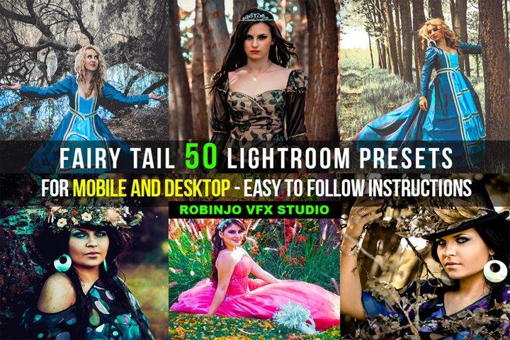 Fairy Tail 50 Lightroom Presets