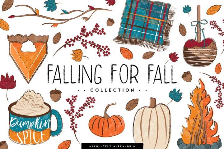 Falling For Fall Illustrations & Seamless Digital Patterns