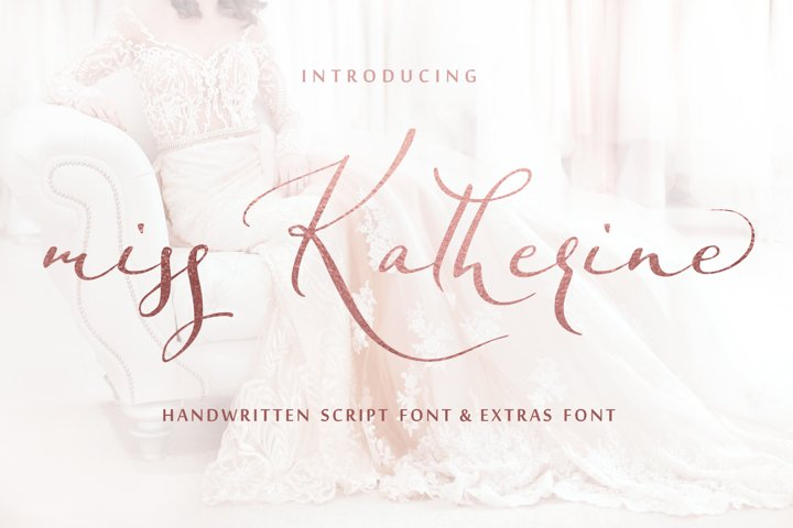 Miss Katherine font + Extras & Logo