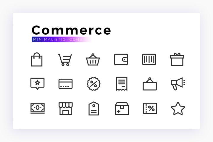 Commerce & Business Minimalistic SVG Icon Set