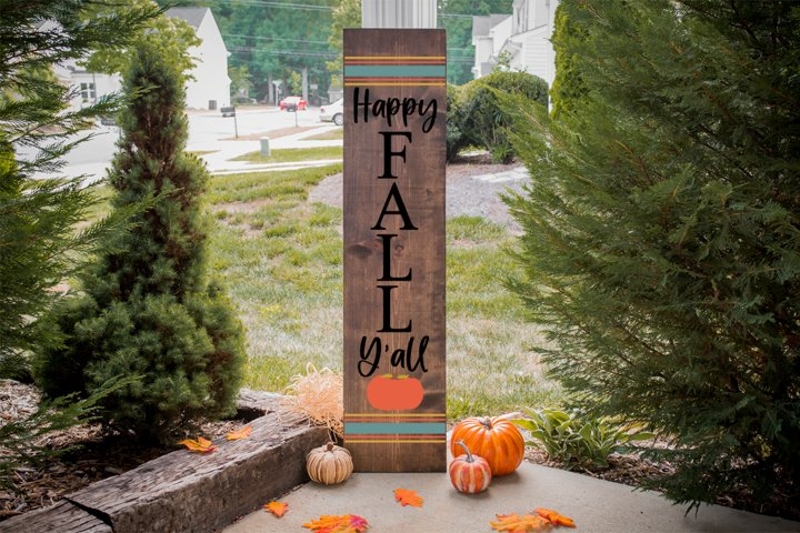 Fall Front Porch Sign - Happy Fall Yall