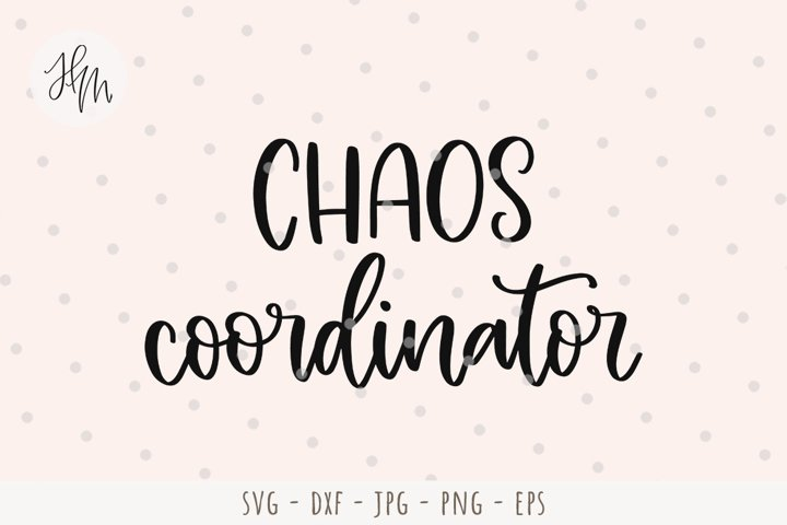 Chaos coordinator cut file SVG DXF EPS PNG JPG