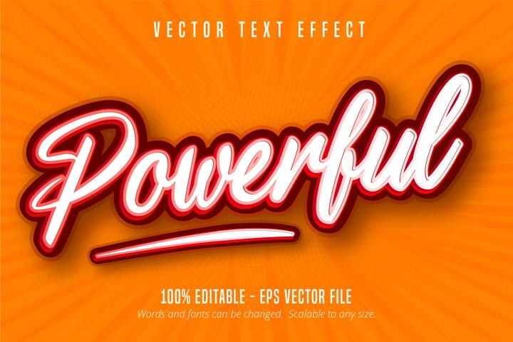 Powerful text, pop art style editable text effect