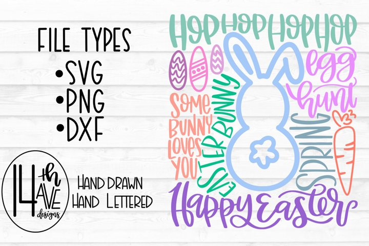 Happy Easter SVG, Easter Typography, Easter PNG