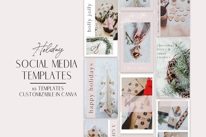 Holiday Instagram Templates for Canva