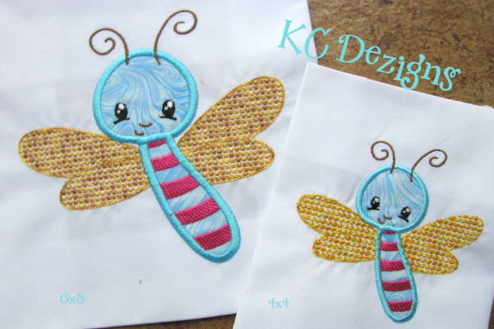 Baby Bug Bee Machine Applique Embroidery Design