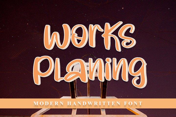 Works Planing - Beautiful Handwritten Font