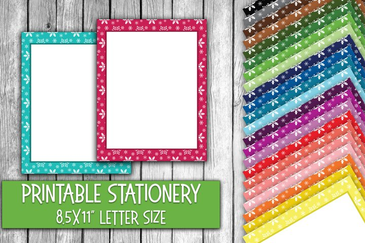 Snowflakes Letter Size - Christmas Stationery Paper