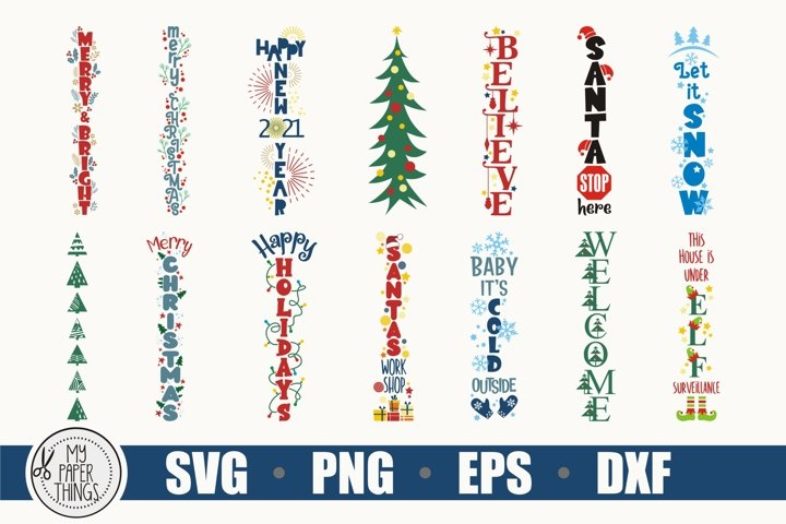 Christmas porch sign SVG cut file for crafter, Winter svg