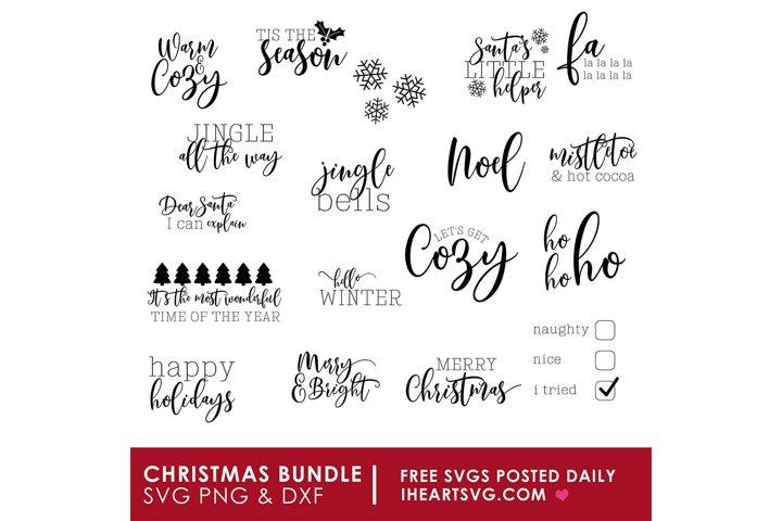 Christmas SVG Bundle | 18 Holiday Cut Files