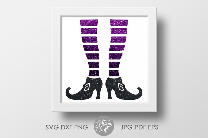 Witch legs SVG ,Halloween SVG, cut file ,witches shoes example 3