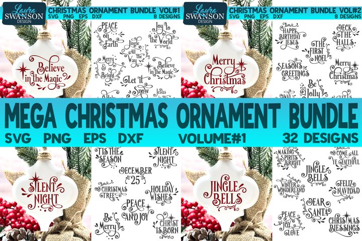 Mega Christmas Ornament Bundle Vol#1 | Christmas SVG Bundle