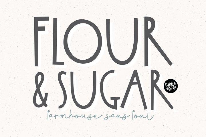 FLOUR & SUGAR a Farmhouse Font
