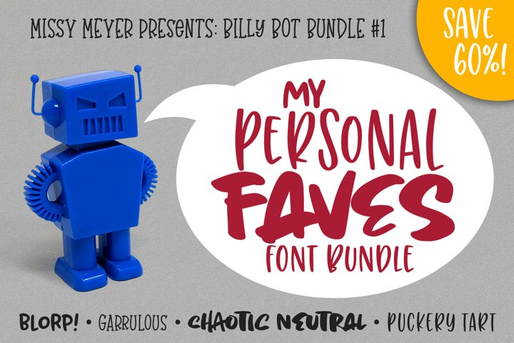 Billy Bot Bundle 1 - My Personal Faves Font Bundle!