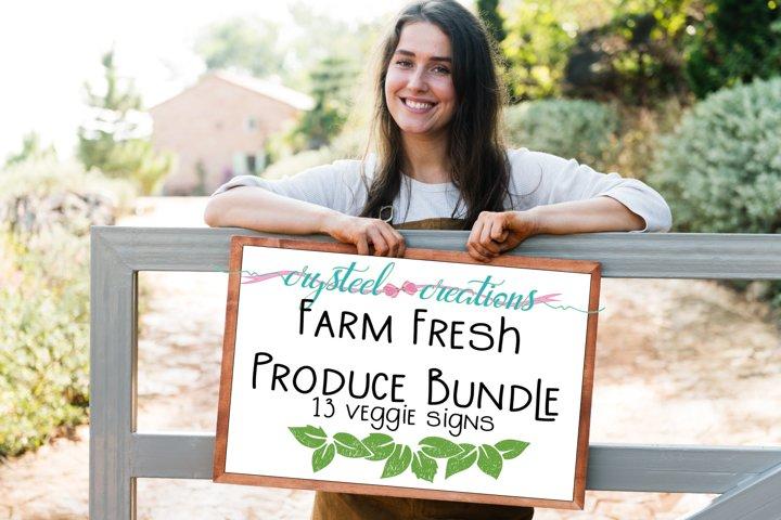 Farm Fresh Produce Signs Bundles 13 files SVG, DXF, PNG,EPS