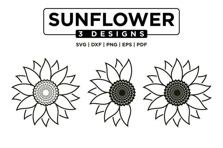 Sunflower SVG Bundle, Sunflower Clipart SVG Mini Bundle