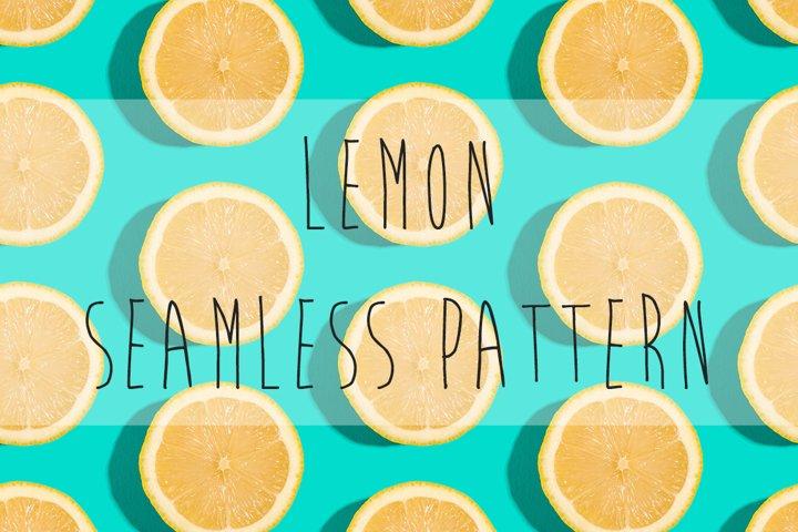 Lemon citrus fruits seamless pattern