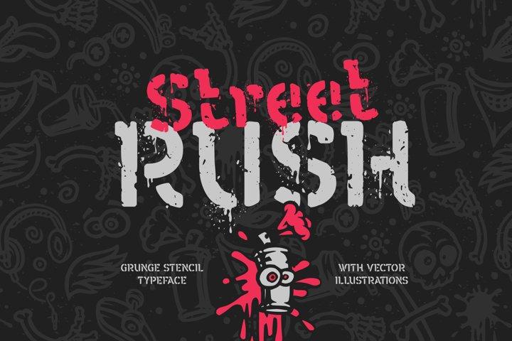 Street Rush font & graphics
