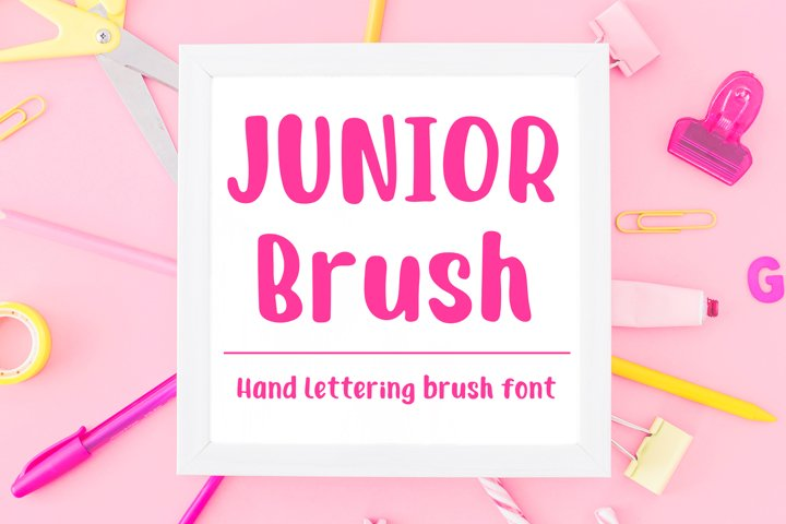 Junior Brush - Handwritten Brush Font