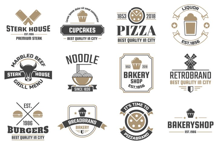 60 Vintage Logo Set example 9