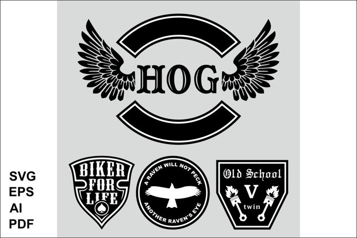 The set of symbols of the bikers