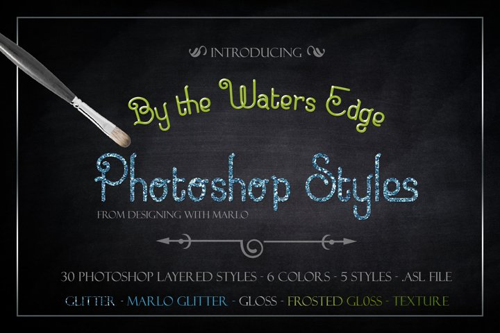 By the Waters Edge - Layered Photoshop Styles