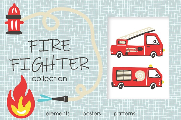 Fire Fighter kids collection