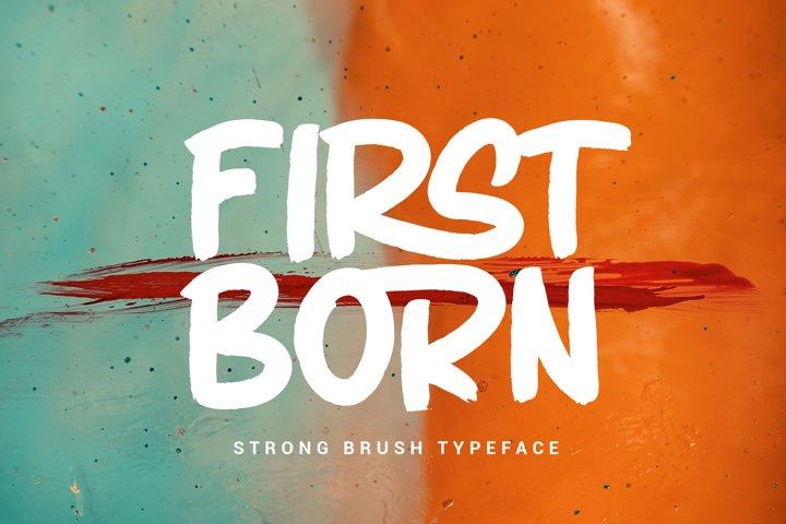 FIRSTBORN // BRUSH TYPEFACE