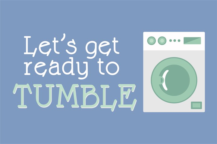 LD Laundry Night - Free Font of The Week Design2