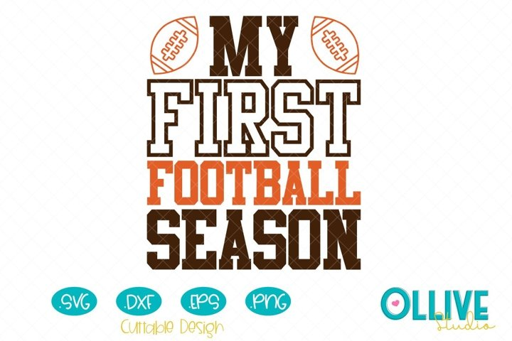 My First Football Season Svg
