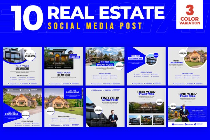 Real Estate 10 Social Media Post