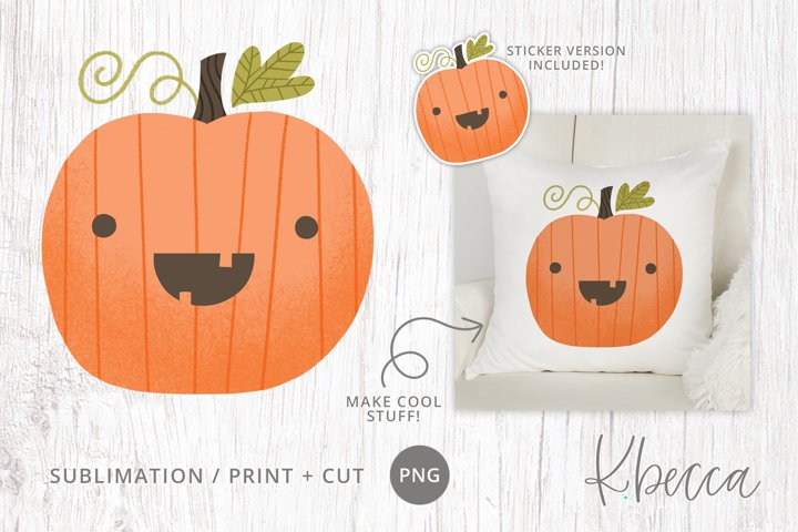 Cute Halloween Pumpkin Sublimation Design