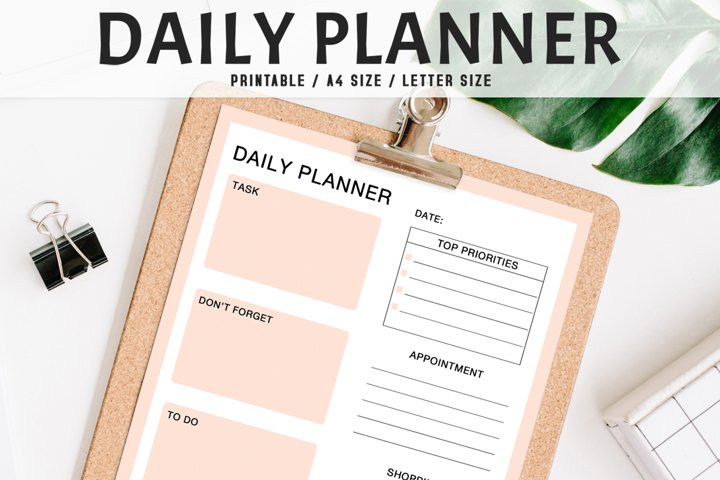 Colorful Daily Planner Printable V2