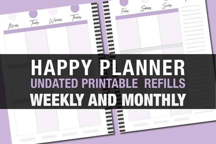 Happly Planner PRINTABLE Refill Classic Lavender