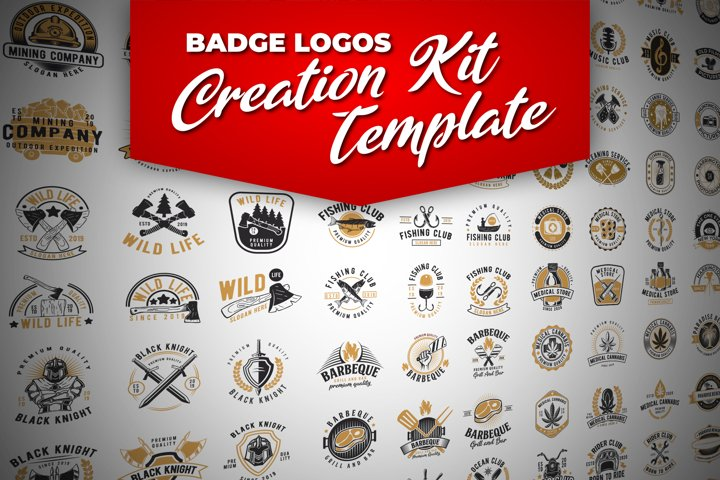 100 Retro Badge Logos Creation Kit