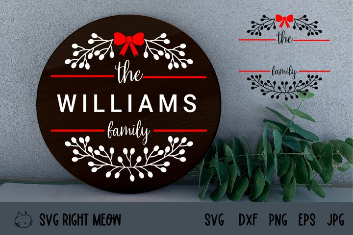 Family Monogram Wreath SVG