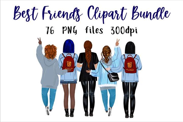 Best friend clipart, Girls Clipart, Mug Designs