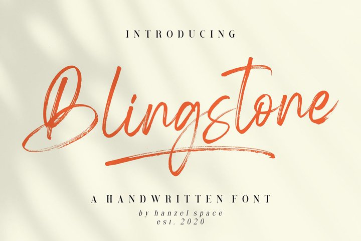 Blingstone - Handwritten Font