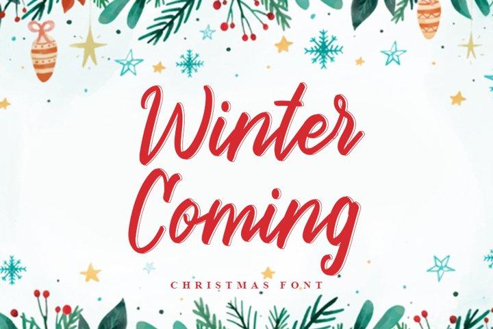Winter Coming | Beautiful Christmas Font