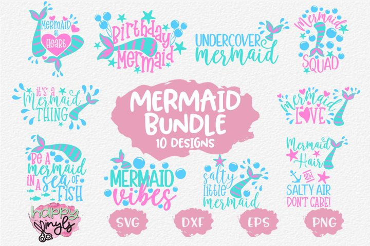 Mermaid Sayings Bundle - A Mermaid SVG Bundle