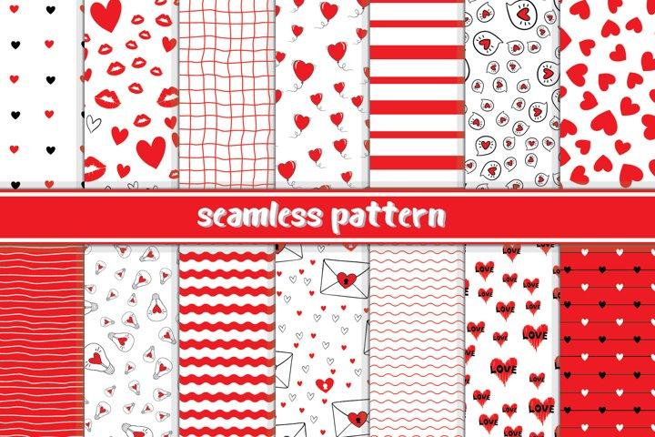 Valentines seamless pattern. This digital paper set.