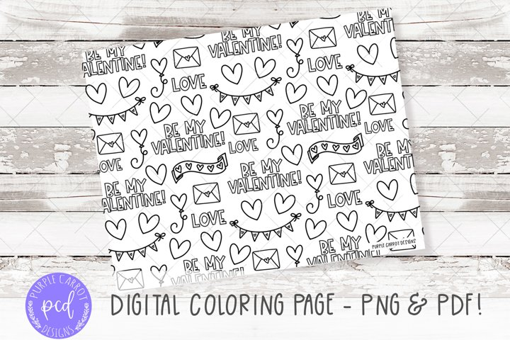 Digital Coloring Page, Procrate Coloring, Printable Coloring
