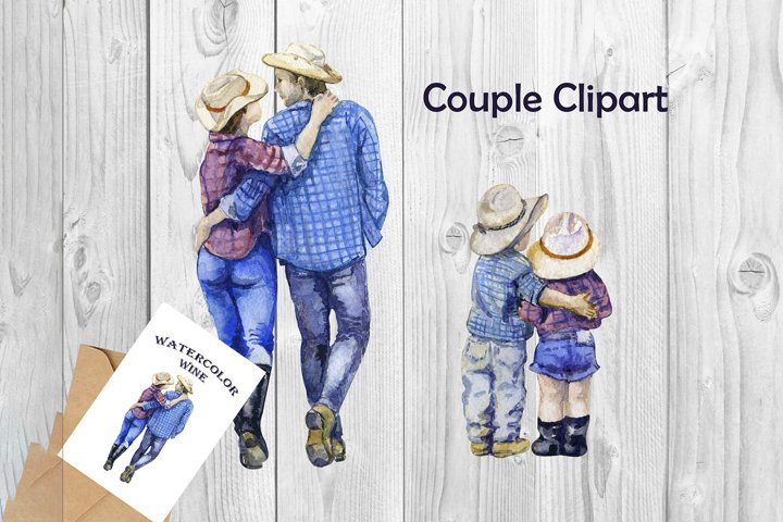 Cute Love Clipart Couple Clipart Valentine png Western png