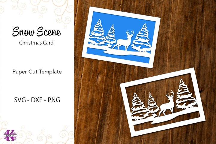 Christmas Card - Paper Cut Template