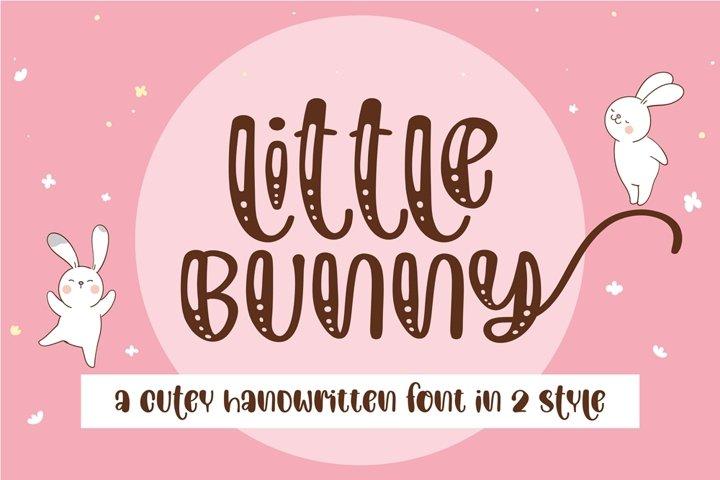 Little bunny-A cutey swashes handwritten font